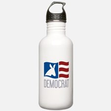 Democrat Donkey Flag Water Bottle