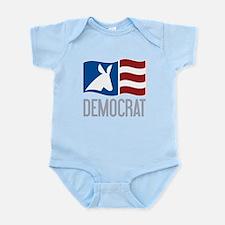 Democrat Donkey Flag Infant Bodysuit