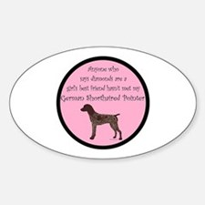 GSP - Girls Best Friend Sticker (Oval)