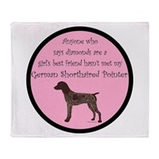 GSP - Girls Best Friend Throw Blanket