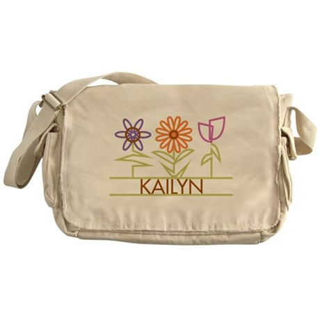 Kailyn with cute flowers Messenger Bag