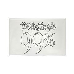 we the people 99% white Rectangle Magnet (100 pack