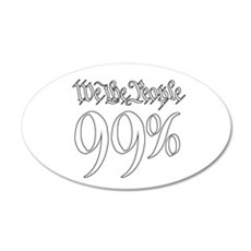 we the people 99% white 22x14 Oval Wall Peel