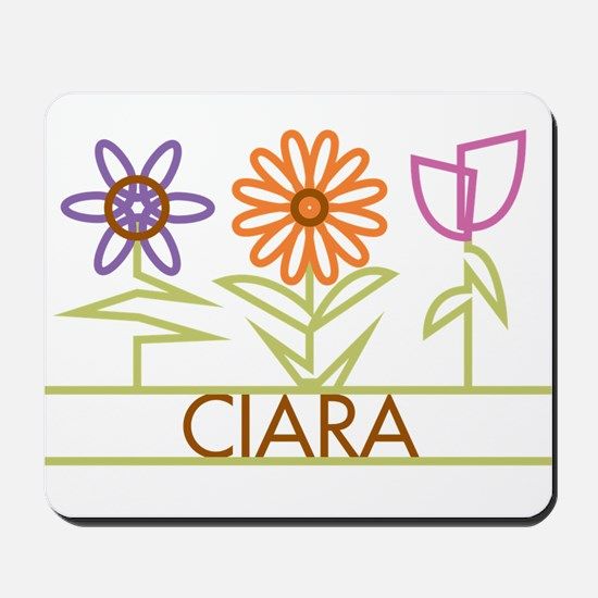 Ciara with cute flowers Mousepad