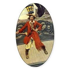 Pirate Captain Keitt Sticker (Oval 10 pk)
