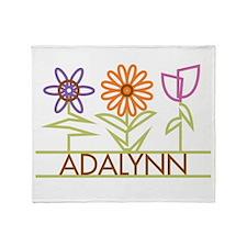 Adalynn with cute flowers Throw Blanket