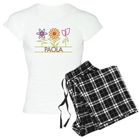 Paola with cute flowers Women's Light Pajamas