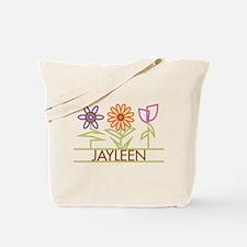 Jayleen with cute flowers Tote Bag