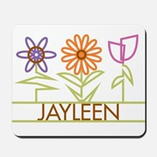 Jayleen with cute flowers Mousepad