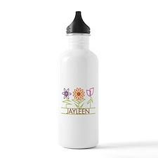 Jayleen with cute flowers Water Bottle