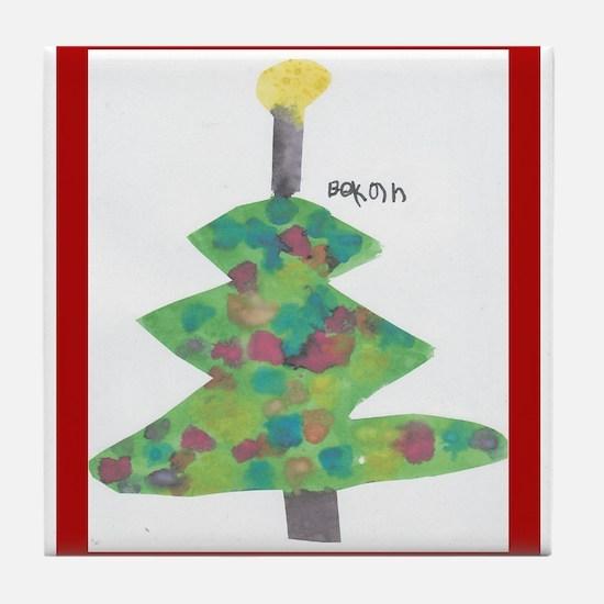 Bekah's Christmas Tree Tile Coaster