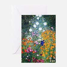 Klimt - Flower Garden Greeting Card