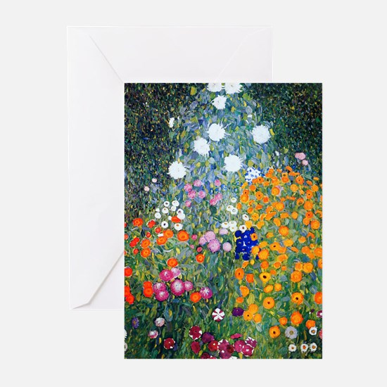 Klimt - Flower Garden Greeting Cards (Pk of 10)