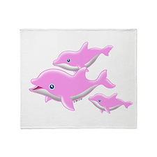 I Like Dolphin (2( Throw Blanket