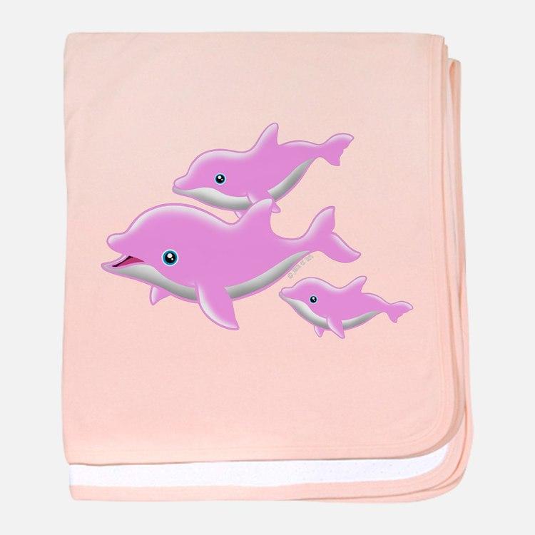 I Like Dolphin (2( baby blanket