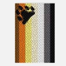VERTICAL BEAR FLAG DIMPLED Postcards (Package of 8