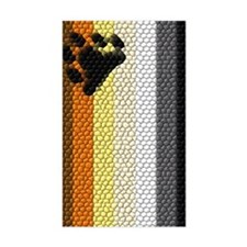 VERTICAL BEAR FLAG DIMPLED Rectangle Decal
