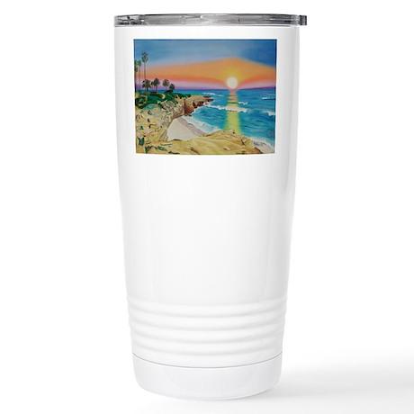 Moon Rocks Sunset Stainless Steel Travel Mug
