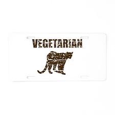 Vegetarian Twilight design Aluminum License Plate