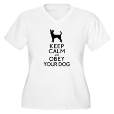 """""""Keep Calm and Obey Your Dog"""" T-Shirt"""