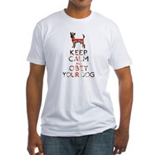 """Keep Calm and Obey Your Dog"" Shirt"