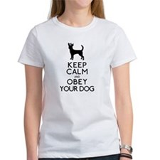 """Keep Calm and Obey Your Dog"" Tee"