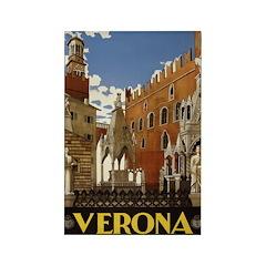 Verona Italia Rectangle Magnet (100 pack)