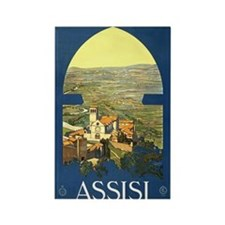 Assisi Italia Rectangle Magnet