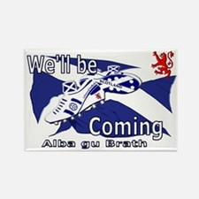Scotland We'll be Coming Rectangle Magnet