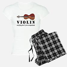 Violin Humor Music Pajamas