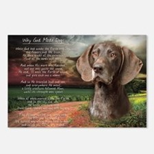 """Why God Made Dogs"" GSP Postcards (Package of 8)"