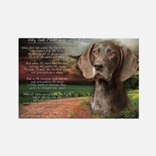 """""""Why God Made Dogs"""" GSP Rectangle Magnet"""