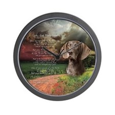 """""""Why God Made Dogs"""" GSP Wall Clock"""