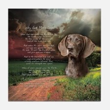 """""""Why God Made Dogs"""" GSP Tile Coaster"""