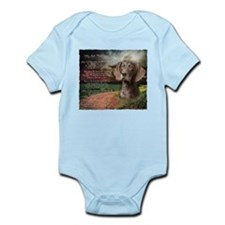 """""""Why God Made Dogs"""" GSP Infant Bodysuit"""