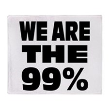 We are the 99% Throw Blanket