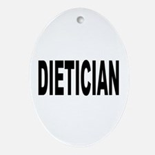 Dietician Ornament (Oval)