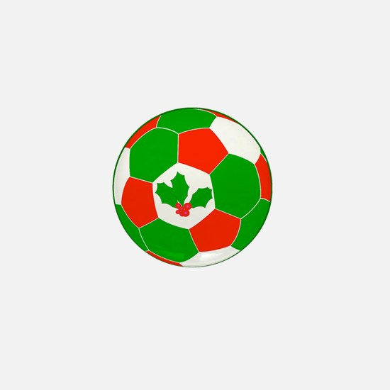 Christmas Soccer Ball Mini Button