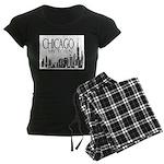 Chicago My Town Women's Dark Pajamas