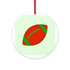 Christmas Football Ornament (Round)