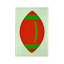 Christmas Football Rectangle Magnet