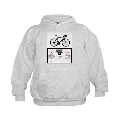 Bicycle Gas Mileage Kids Hoodie