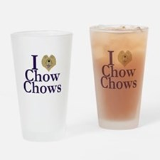 I Heart Chows Drinking Glass