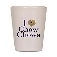 I Heart Chows Shot Glass