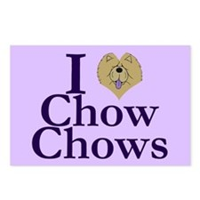 I Heart Chows Postcards (Package of 8)
