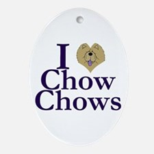 I Heart Chows Ornament (Oval)