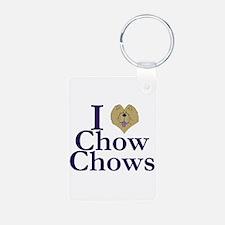 I Heart Chows Keychains