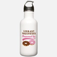Library Volunteer Funny Water Bottle