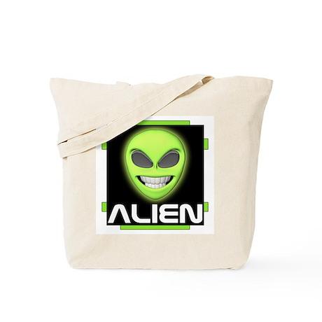 Grinning Alien Tote Bag