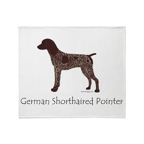 German Shorthaired Pointer Throw Blanket